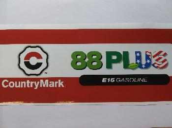 "88 PLUS DECAL 12.75"" X 4.75"" New 88PLUS W/E15 Med"